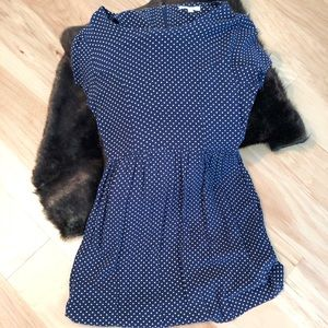 Blue with White Polka-Dots Dress